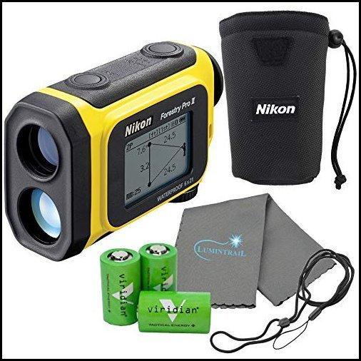 【新品】Nikon Forestry Pro II Laser Rangefinder Hypsometer Bundle with 3 Extra CR2 Batteries and a Lumintrail Cleaning Cloth【並行輸
