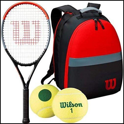 """【新品】Wilson Clash Junior Tennis Racquet Bundled with a Child's Clash Backpack and Transition Tennis Balls (26"""" Racquet, Green Dot Ten"""