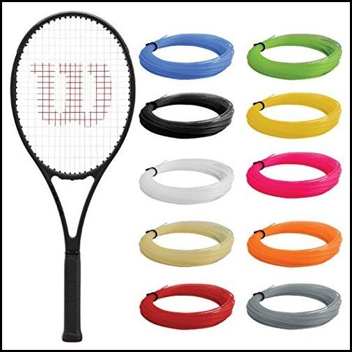 """【新品】Wilson Pro Staff 97 v13 Tennis Racquet (4 3/8"""" Grip) Strung with Pink Synthetic Gut Racket String - Best Racquet for Power and C"""