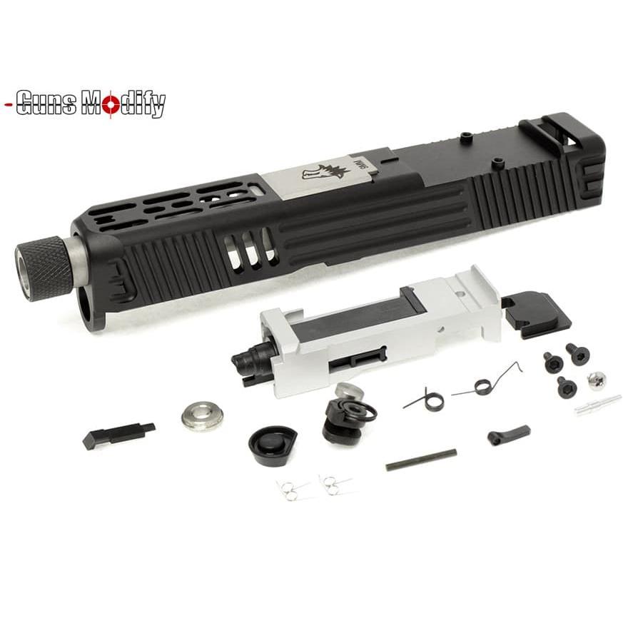 GunsModify G26 LW CNC RMR アルミスライド&スレッドステンレスアウターバレル w/ブリーチフルSET 黒&銀