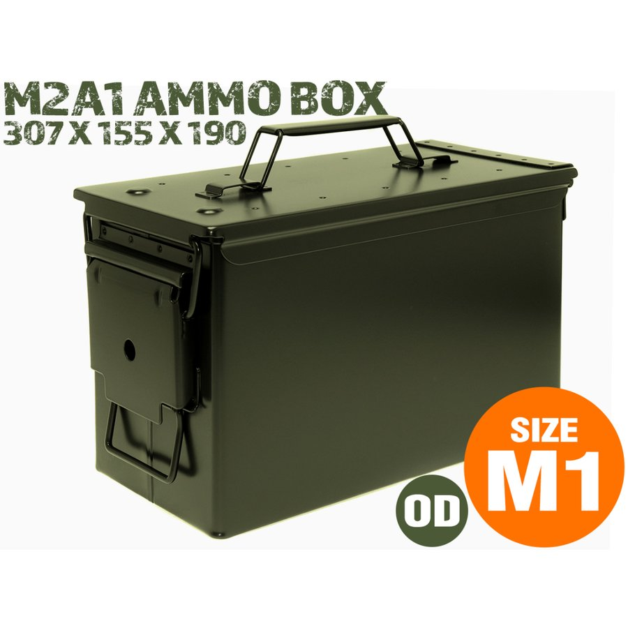 M2A1タイプ .50 アンモボックス/OD|militarybase