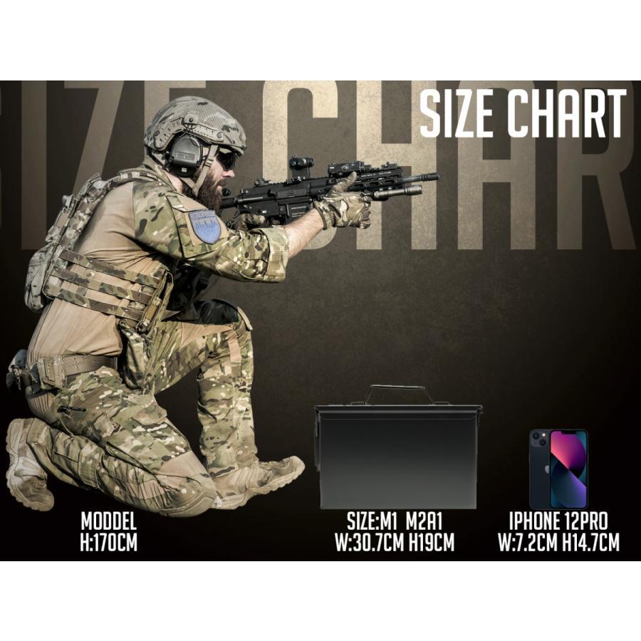 M2A1タイプ .50 アンモボックス/OD|militarybase|03