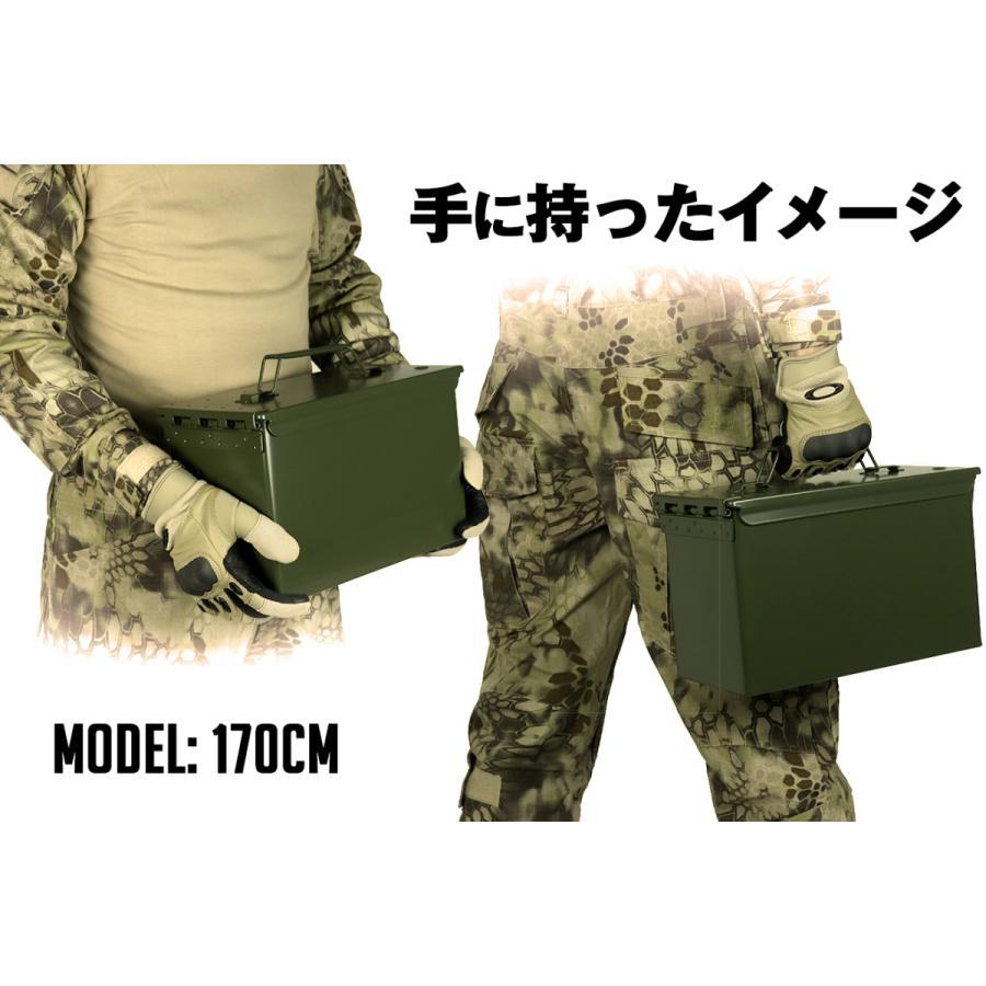 M2A1タイプ .50 アンモボックス/OD|militarybase|04