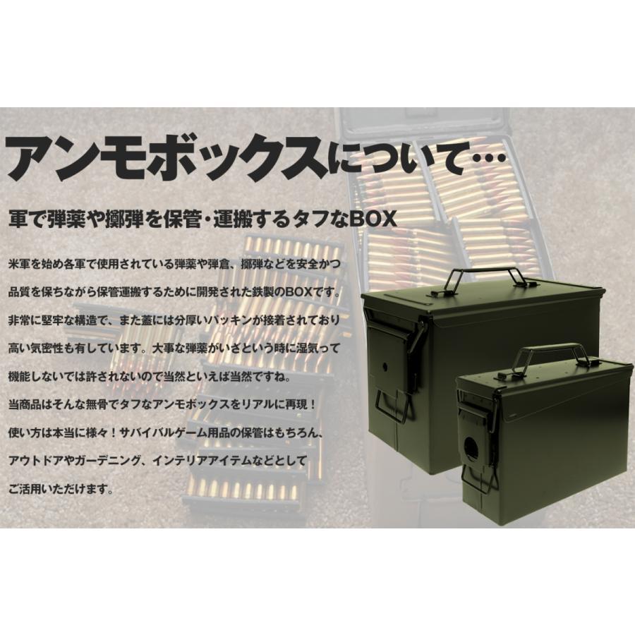 M2A1タイプ .50 アンモボックス/OD|militarybase|06