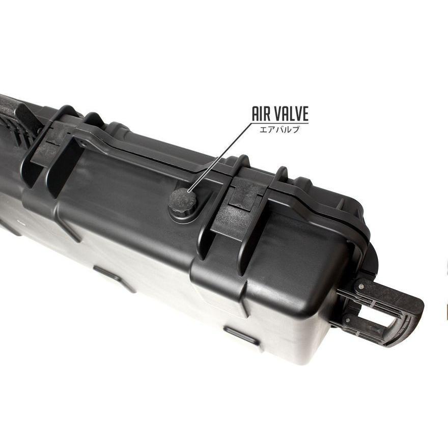 MILITARY-BASE(ミリタリーベース)ウォータープルーフ ワイドライフル ハードガンケース 35L/98cm BK|militarybase|04