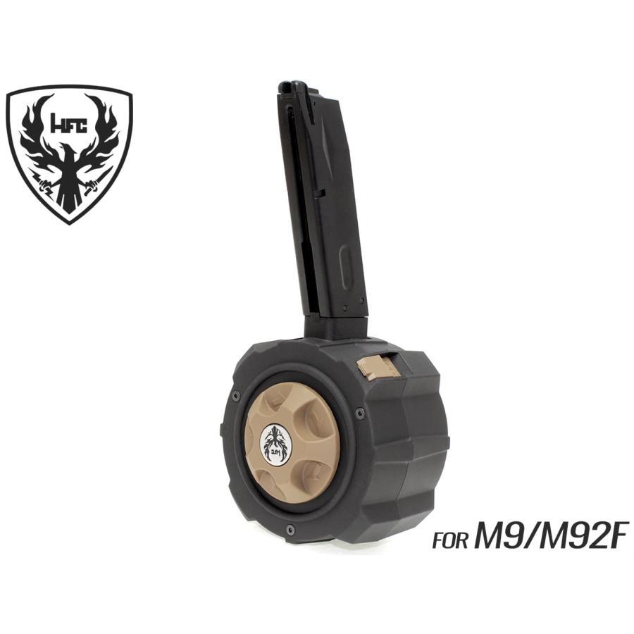 HFC ガスドラムマガジン 145Rds M9/M92F用