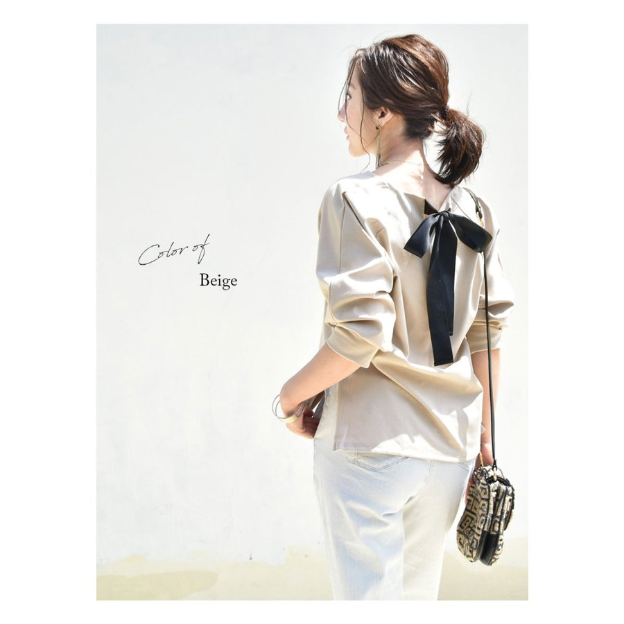 SALE 授乳服 マタニティ エミリーバックリボンパフィ5分袖カットソー 1点までメール便可 ジッパータイプの授乳口 授乳ケープみたいに使える Tシャツ レディース|milktea-mm|11