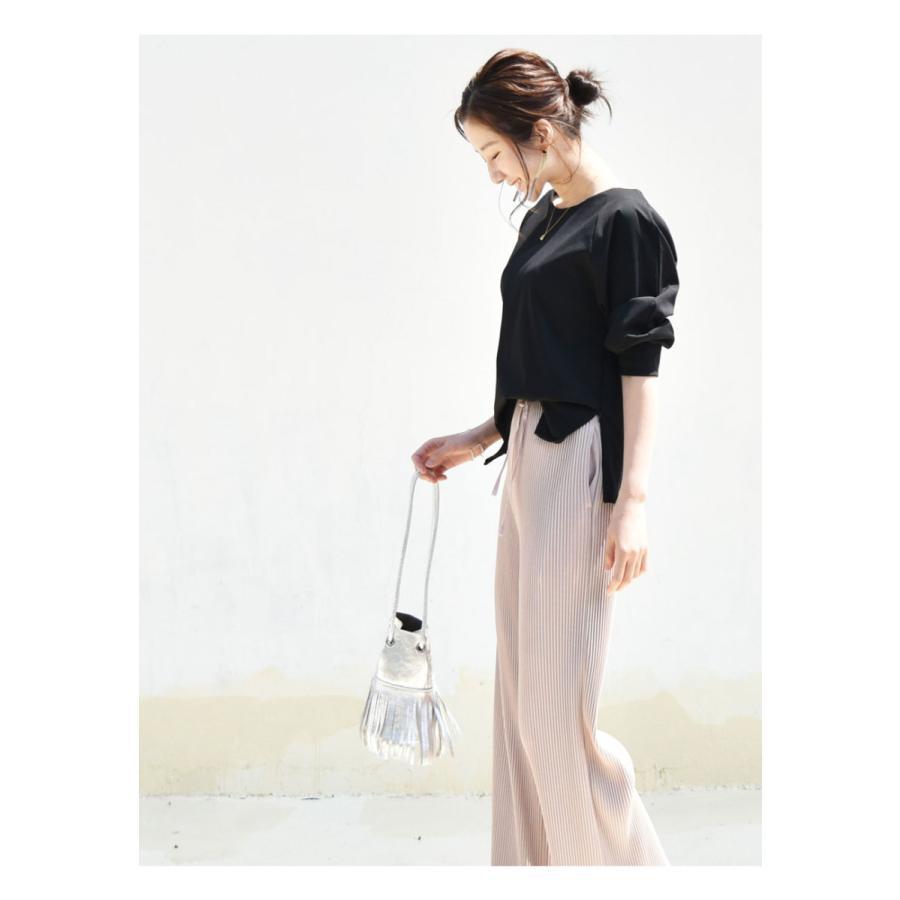 SALE 授乳服 マタニティ エミリーバックリボンパフィ5分袖カットソー 1点までメール便可 ジッパータイプの授乳口 授乳ケープみたいに使える Tシャツ レディース|milktea-mm|05