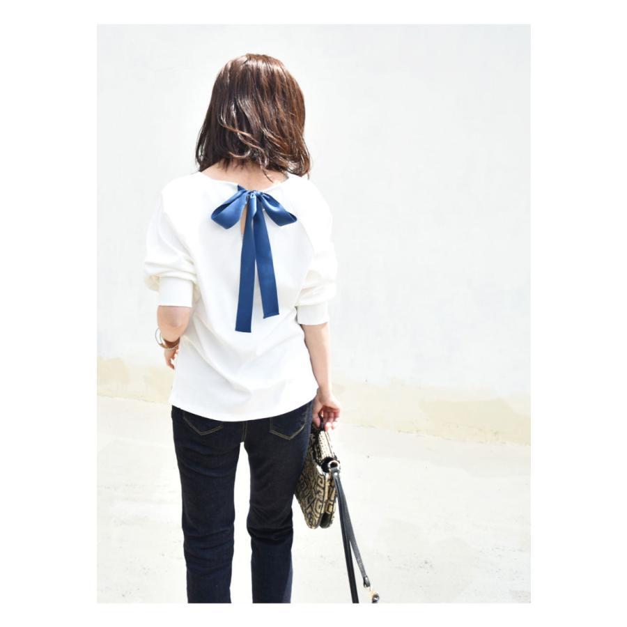 SALE 授乳服 マタニティ エミリーバックリボンパフィ5分袖カットソー 1点までメール便可 ジッパータイプの授乳口 授乳ケープみたいに使える Tシャツ レディース|milktea-mm|06