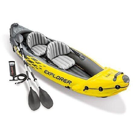 Intex Recreation Corp K2 Kayak Explorer エア(インフレータブル)カヤックエクスプローラー アップグレード(パ
