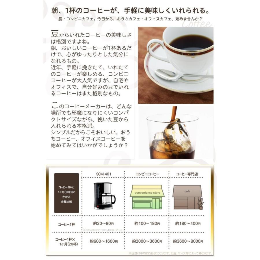 siroca ドリップ式コーヒーメーカー SCM-401メッシュフィルター/ドリップ方式 millioncacao 14