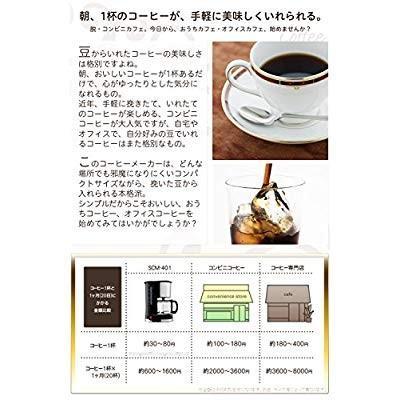 siroca ドリップ式コーヒーメーカー SCM-401メッシュフィルター/ドリップ方式 millioncacao 17