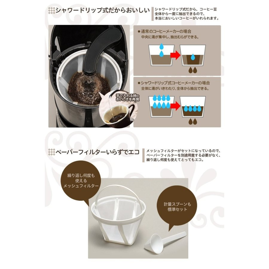 siroca ドリップ式コーヒーメーカー SCM-401メッシュフィルター/ドリップ方式 millioncacao 07