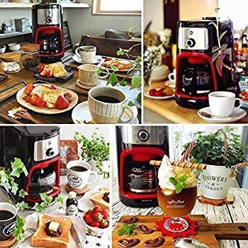 アイリスオーヤマ コーヒーメーカー 全自動 メッシュフィルター付き 1~4杯用 ブラック IAC-A600|millioncacao|02