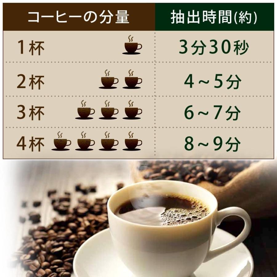 アイリスオーヤマ コーヒーメーカー 全自動 メッシュフィルター付き 1~4杯用 ブラック IAC-A600|millioncacao|04