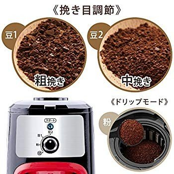 アイリスオーヤマ コーヒーメーカー 全自動 メッシュフィルター付き 1~4杯用 ブラック IAC-A600|millioncacao|06