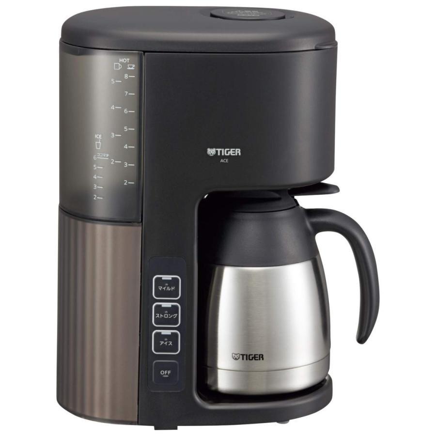 タイガー コーヒーメーカー 8杯用 真空 ステンレス サーバー アイス機能付き カフェブラック ACE-S080KQ millioncacao 09