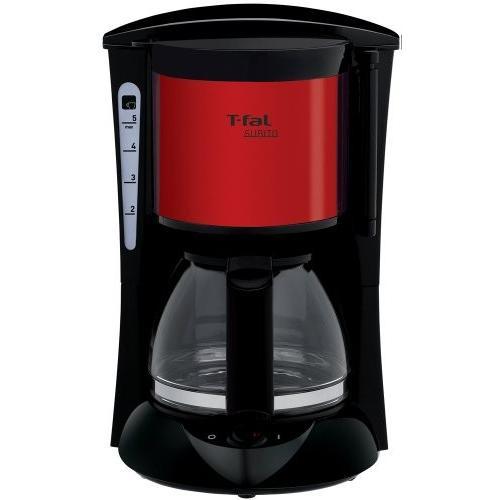 ティファール コーヒーメーカー スビト ペーパーレスフィルター メタリックルビーレッド CM151GJP|millioncacao|04