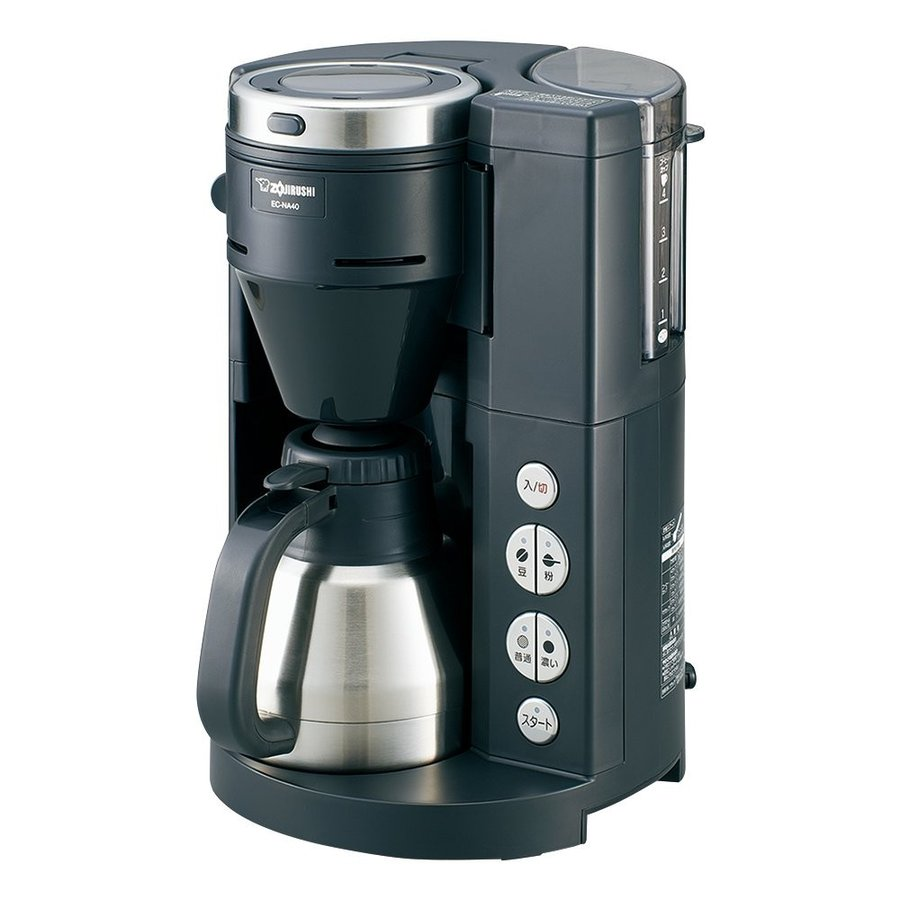 象印 全自動コーヒーメーカー ステンレス魔法瓶サーバー1~4杯用 EC-NA40-BA|millioncacao|02