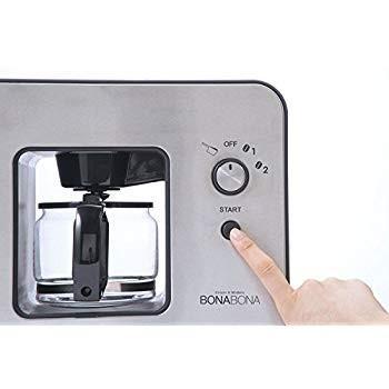 CCP BONABONA 全自動ミル付きコーヒーメーカー(保温機能搭載) 「豆・粉からドリップ可能」 ガラスジャグ付き ブラック BZ-MC millioncacao 05