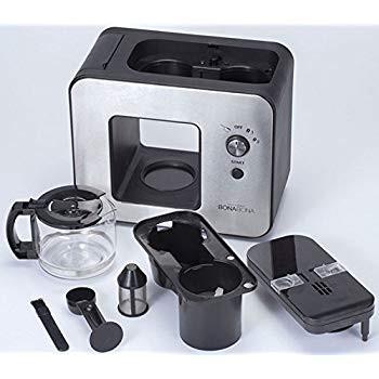 CCP BONABONA 全自動ミル付きコーヒーメーカー(保温機能搭載) 「豆・粉からドリップ可能」 ガラスジャグ付き ブラック BZ-MC millioncacao 09
