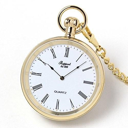 ラポートRAPPORT 懐中時計 蓋なし ゴールドカラー クォーツ式 PW38 正規輸入品