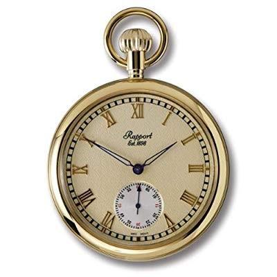 RAPPORT ラポート 懐中時計(ポケットウォッチ) 手巻き ゴールド(ローマン) PW76
