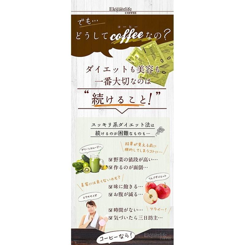 コーヒー お試し 食品 エレガントライフコーヒー 5包入1杯あたり108円 メール便送料無料  ダイエット milltomo 12