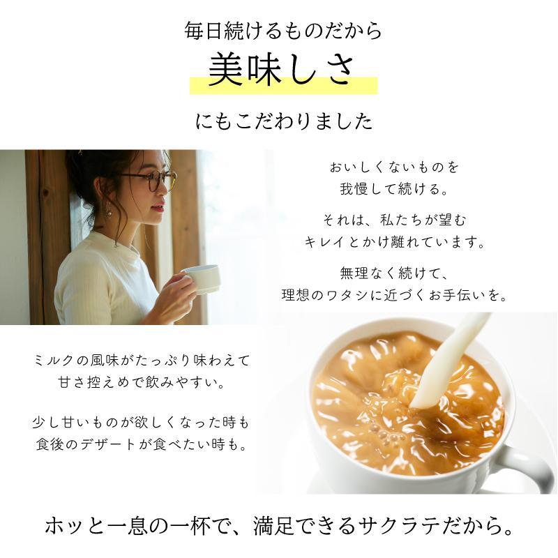 ダイエット お試し 食品 サクラテ 5包入 1杯あたり約178円 お試し メール便送料無料  コーヒー 難消化性デキストリン カフェラテ|milltomo|13