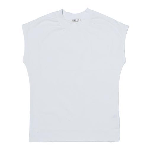 送料無料 シルケットスムース ハイネック スリーブレス TEE レーディス半袖 Tシャツ おすすめ (メール便発送)|mimaca|08