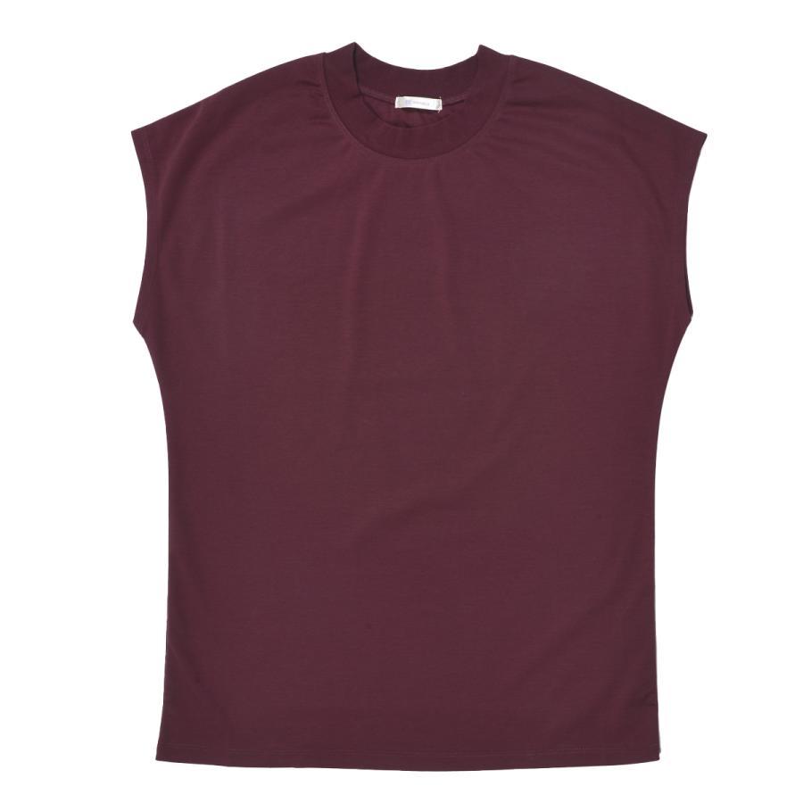 送料無料 シルケットスムース ハイネック スリーブレス TEE レーディス半袖 Tシャツ おすすめ (メール便発送)|mimaca|09