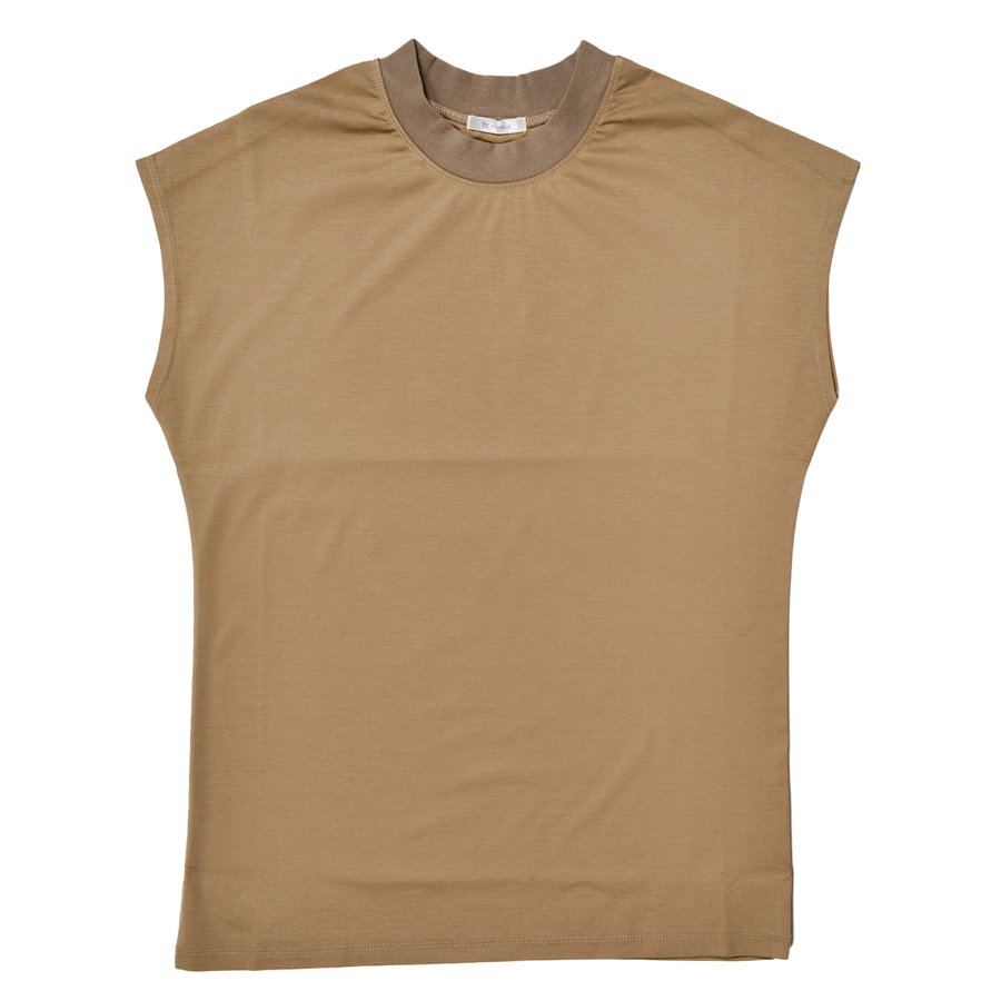 送料無料 シルケットスムース ハイネック スリーブレス TEE レーディス半袖 Tシャツ おすすめ (メール便発送)|mimaca|12