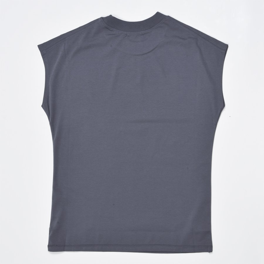 送料無料 シルケットスムース ハイネック スリーブレス TEE レーディス半袖 Tシャツ おすすめ (メール便発送)|mimaca|05