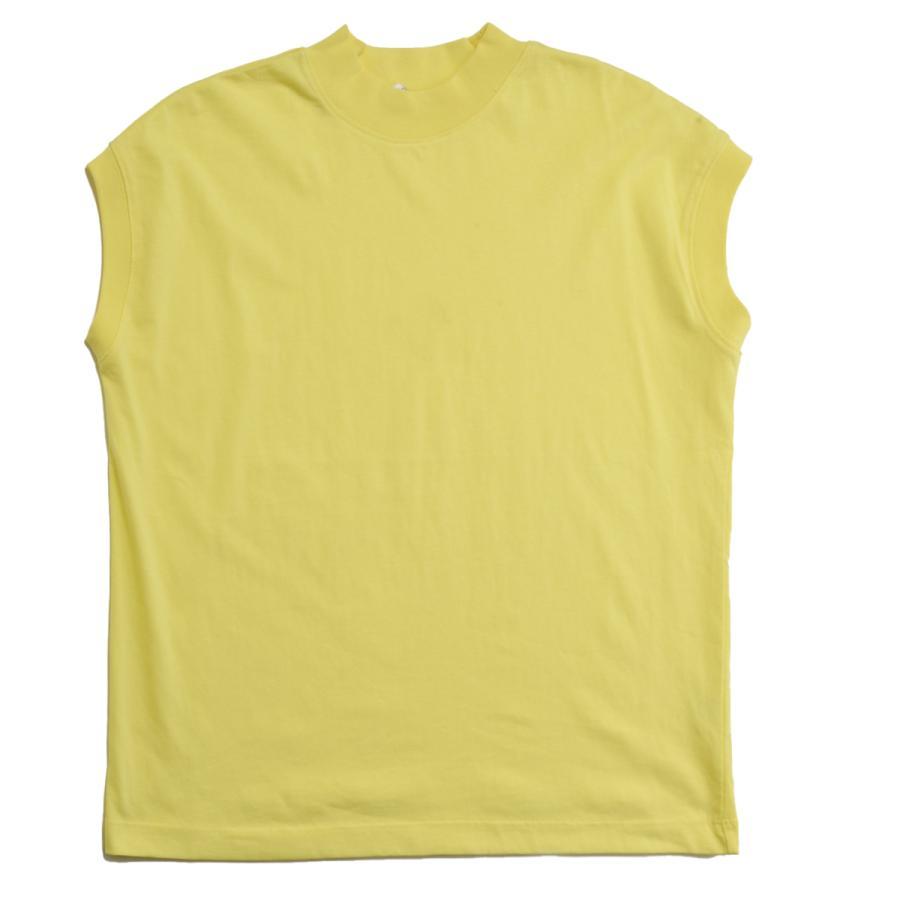 送料無料 ハイネック Tシャツ 天竺バイオ加工  1分袖 TEE (メール便発送)|mimaca|12