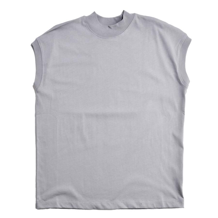 送料無料 ハイネック Tシャツ 天竺バイオ加工  1分袖 TEE (メール便発送)|mimaca|15