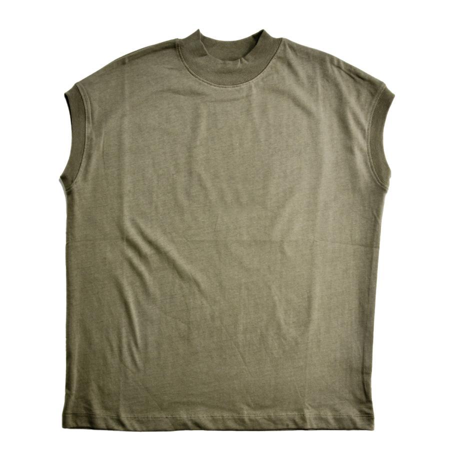 送料無料 ハイネック Tシャツ 天竺バイオ加工  1分袖 TEE (メール便発送)|mimaca|16