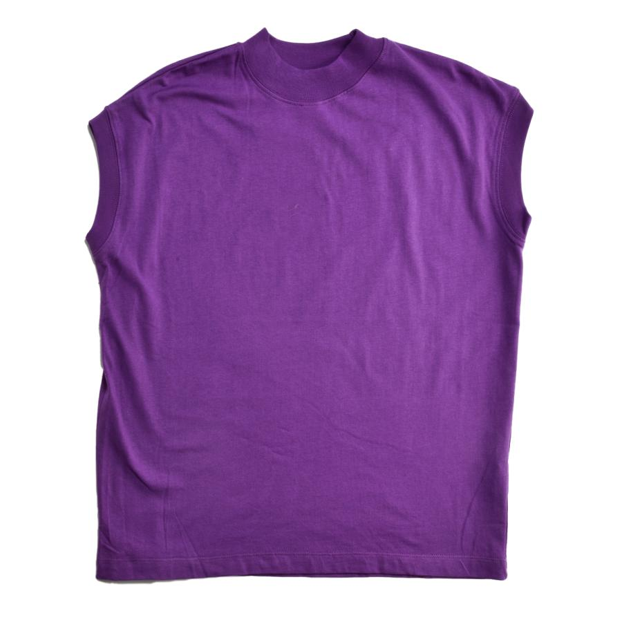 送料無料 ハイネック Tシャツ 天竺バイオ加工  1分袖 TEE (メール便発送)|mimaca|18