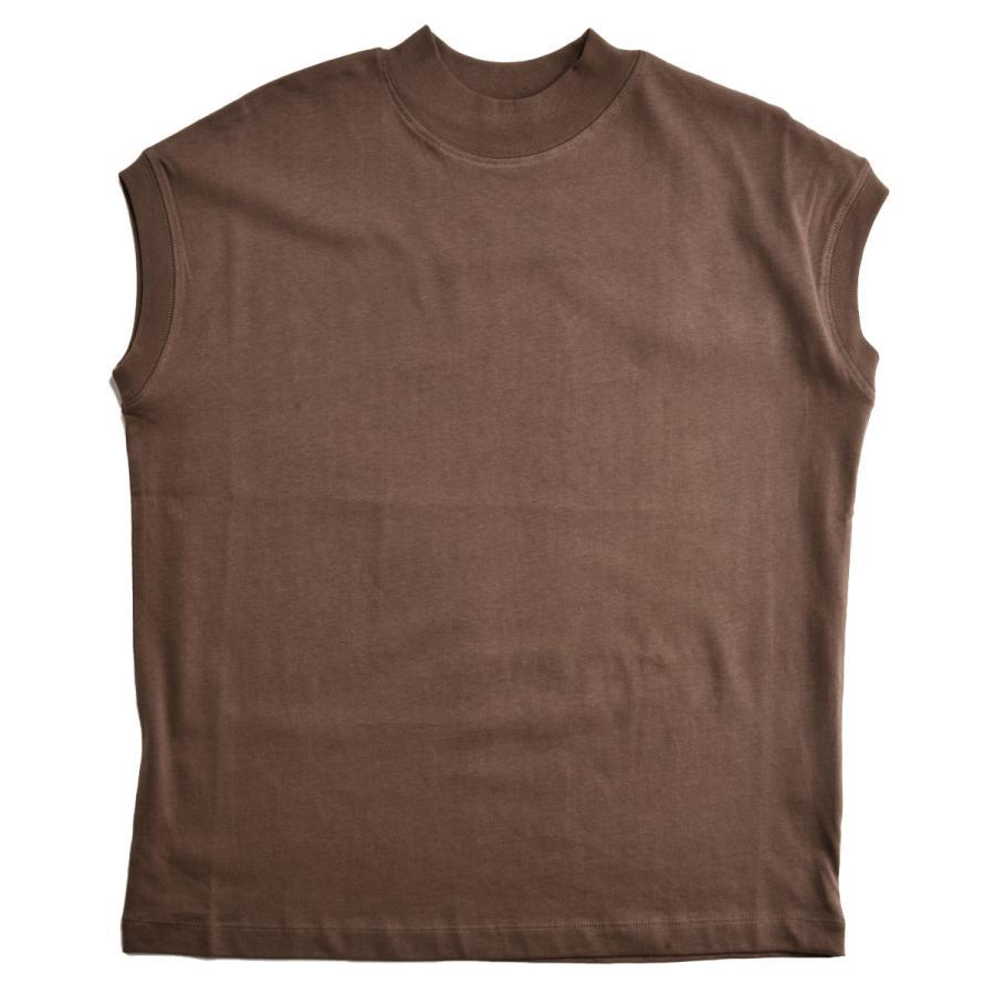 送料無料 ハイネック Tシャツ 天竺バイオ加工  1分袖 TEE (メール便発送)|mimaca|19