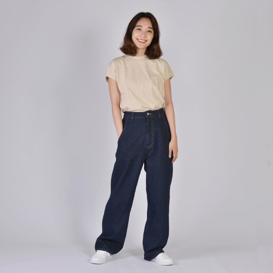 送料無料 ハイネック Tシャツ 天竺バイオ加工  1分袖 TEE (メール便発送)|mimaca|06