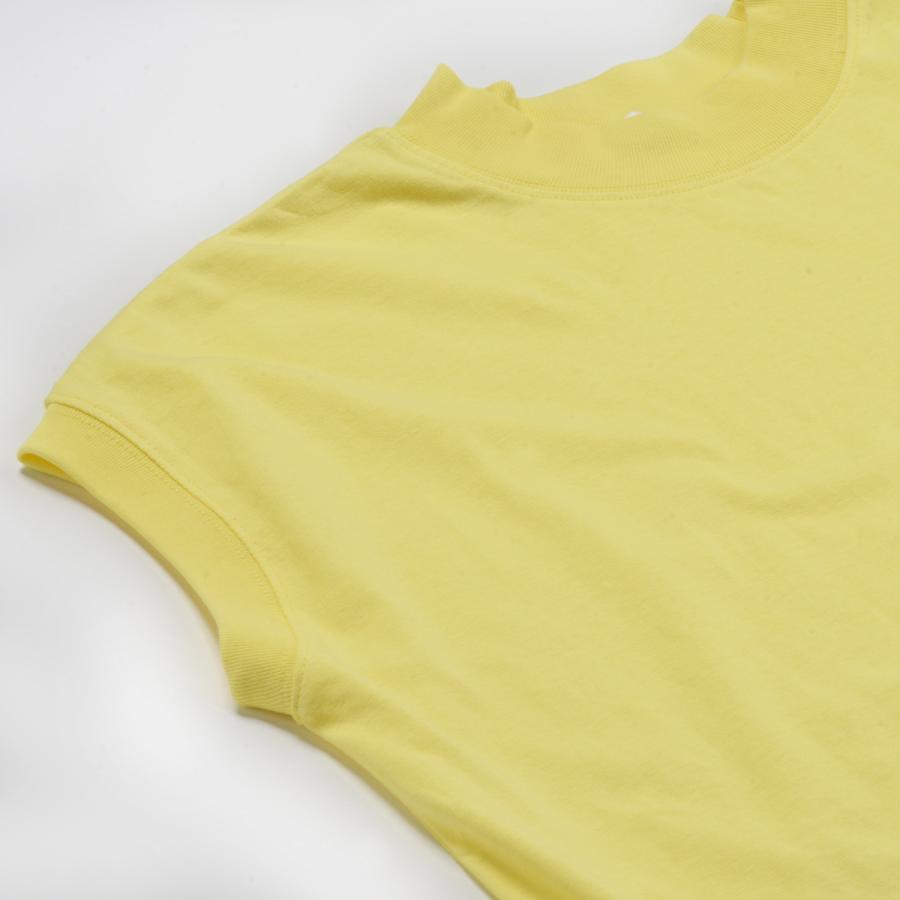 送料無料 ハイネック Tシャツ 天竺バイオ加工  1分袖 TEE (メール便発送)|mimaca|07