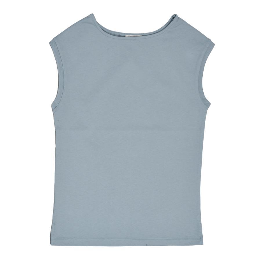 送料無料 強撚天竺 フレンチスリーブ ボートネック TEE Tシャツ  (メール便発送) mimaca 08