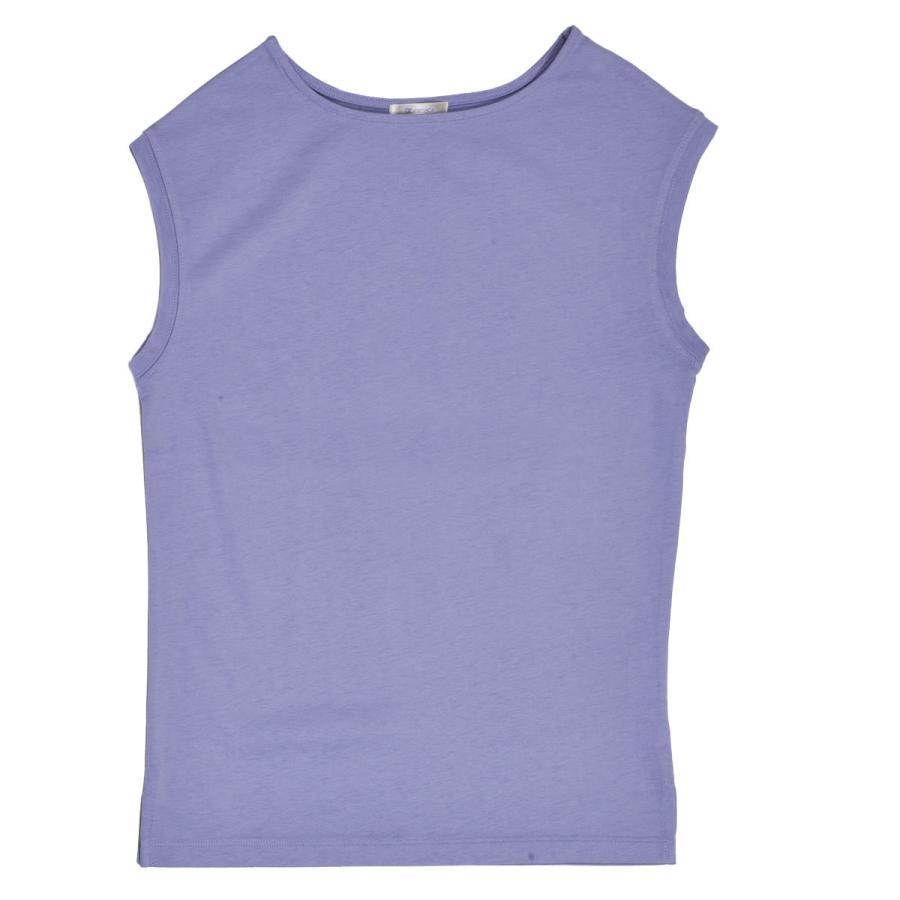 送料無料 強撚天竺 フレンチスリーブ ボートネック TEE Tシャツ  (メール便発送) mimaca 12