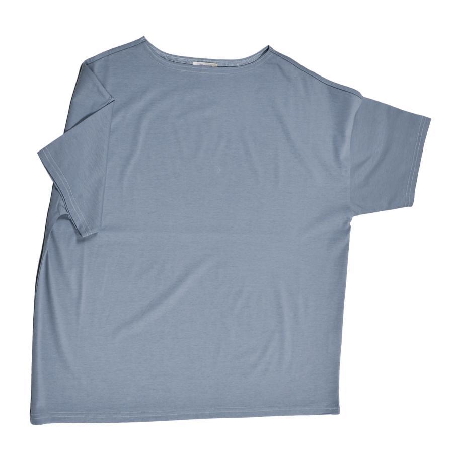 送料無料 ボートネック 肩落ち ボリュームプルオーバー32シルケット天竺 Tシャツ (メール便発送)|mimaca|09