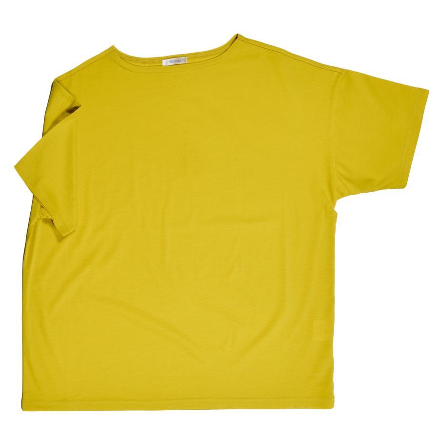 送料無料 ボートネック 肩落ち ボリュームプルオーバー32シルケット天竺 Tシャツ (メール便発送)|mimaca|10