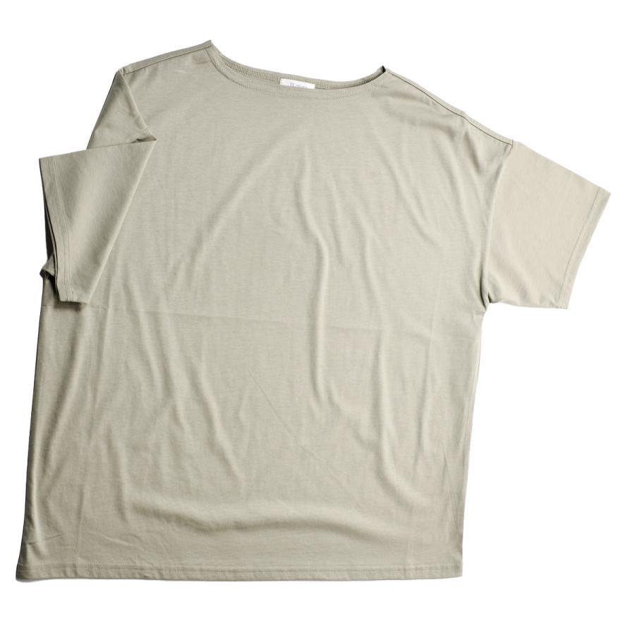 送料無料 ボートネック 肩落ち ボリュームプルオーバー32シルケット天竺 Tシャツ (メール便発送)|mimaca|11