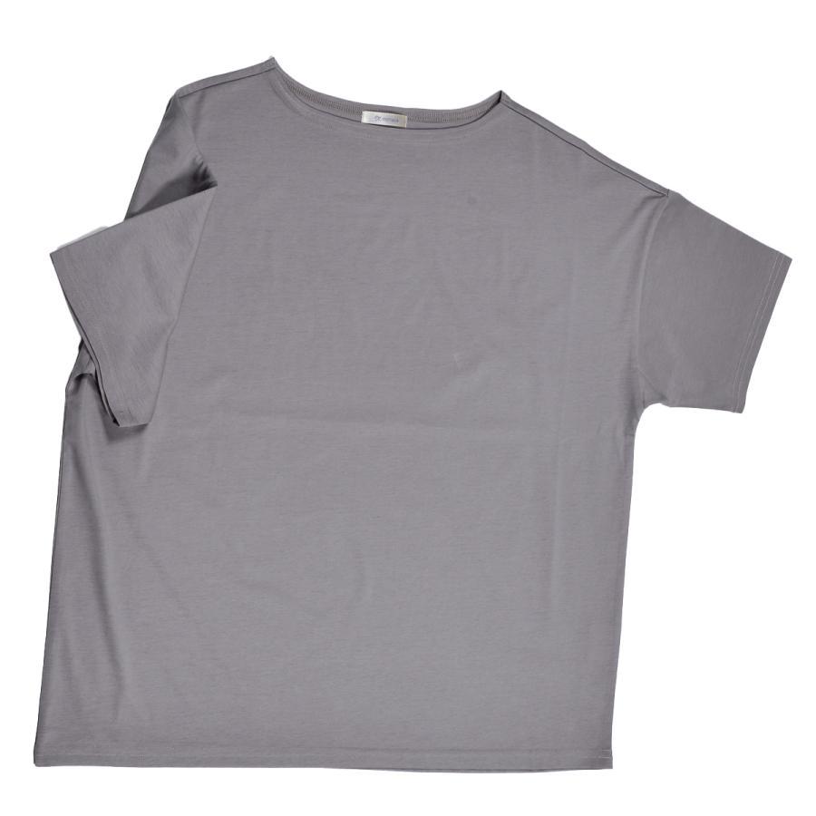 送料無料 ボートネック 肩落ち ボリュームプルオーバー32シルケット天竺 Tシャツ (メール便発送)|mimaca|12