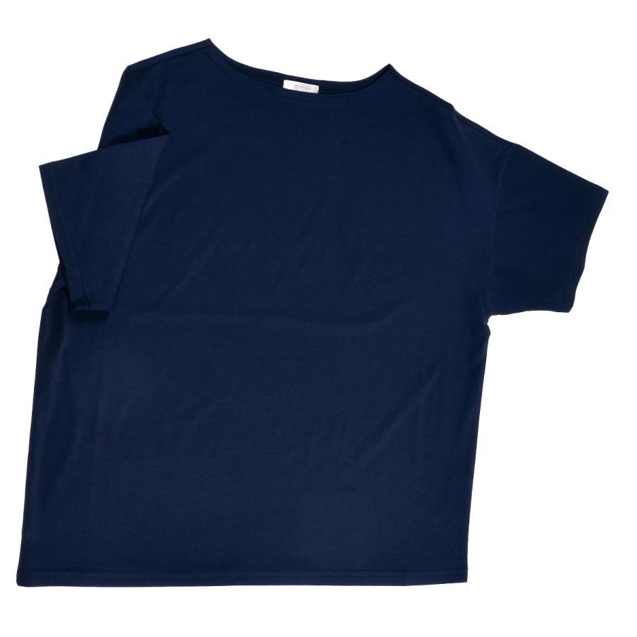 送料無料 ボートネック 肩落ち ボリュームプルオーバー32シルケット天竺 Tシャツ (メール便発送)|mimaca|13