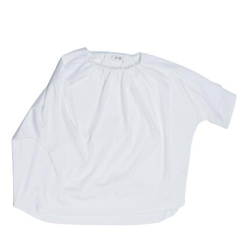 送料無料 衿グリギャザー ドルマン 6分袖 プルオーバー32シルケット天竺 Tシャツ (メール便発送)|mimaca|08