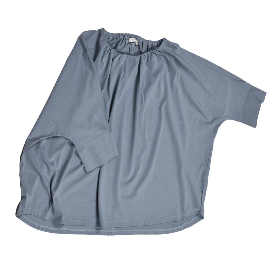 送料無料 衿グリギャザー ドルマン 6分袖 プルオーバー32シルケット天竺 Tシャツ (メール便発送)|mimaca|09