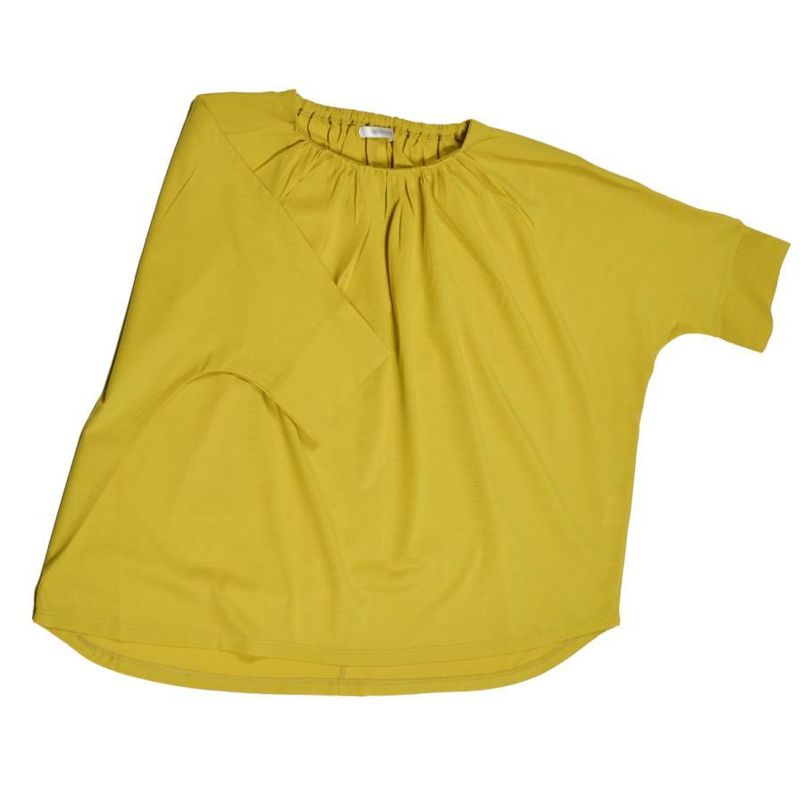 送料無料 衿グリギャザー ドルマン 6分袖 プルオーバー32シルケット天竺 Tシャツ (メール便発送)|mimaca|10
